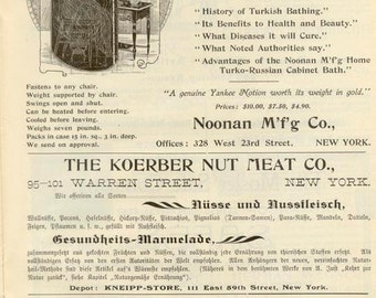 May, 1899 German Health Magazine - Wonderful Adverts - Kneipp - Blatter
