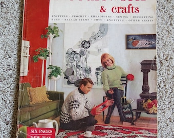McCall's Needlework and Crafts magazine, 1964-65, vintage 190 pages, color, 10 x 13