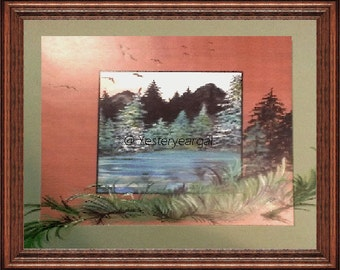 From The Country Scenes Collection     Peaceful Pond