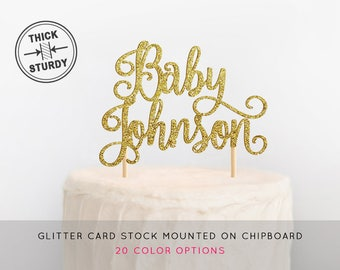 Baby Shower Cake Topper, Baby Name Cake Topper, Custom Baby Shower Cake Topper, Baby Girl Topper, Baby Boy Topper, Welcome Baby Cake Topper