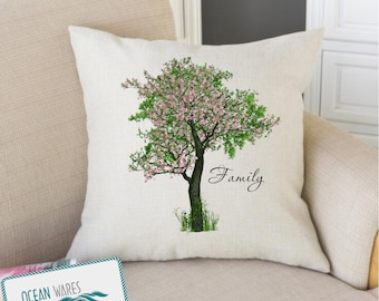 Family tree, Add your own words, personalized gift, throw pillow, cushion cover, mothers day gift, gift for mom