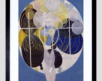 Painting Hilma Af Klint Abstract Circles Art Print Poster Picture FEHP373
