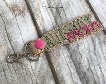 Army Mom vinyl Key Fob keychain