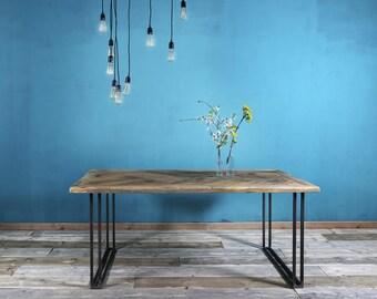 Dining table in Lumber & Iron Yael 190 x 90 cm