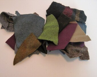 Wool fabric scrap grab bag