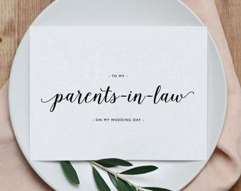 Wedding Card To My Parents-In-Law, To My Parents-In-Law on My Wedding Day, Thank You Wedding Card, To My Parents On My Wedding Day Card, K3