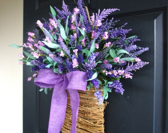 spring wreaths summer wreaths for front door wreaths lavender purple wreaths decorations rustic barn luxury closing gifts for realtors