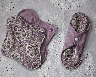Set of 3 washable sanitary pads