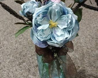 English rose floral arrangement