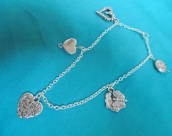 Hearts and butterflies anklet