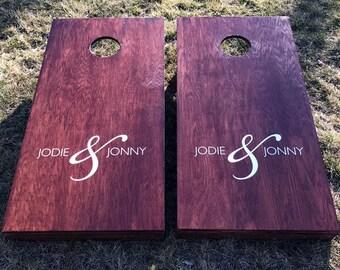 Custom Wedding Cornhole Boards - Custom Wedding Couple Names