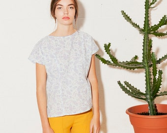 Women's Cotton loose top abstract print ((ON  SALE))