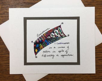 The Virtue Series: Persistence Greeting Card