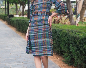 Summer Fit - Multicolour Bell Sleeve Dress