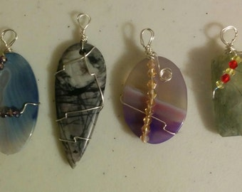 Wire Wrapped Crystals