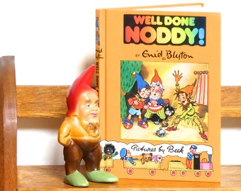 "Vintage Mid Century Hardcover Children's Book -""Well Done Noddy"" - Noddy Book No. 5"