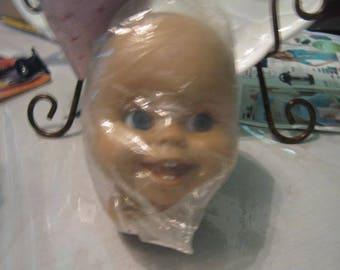 """Medium Vinyl Doll head by Syndee """"Tammy"""""""