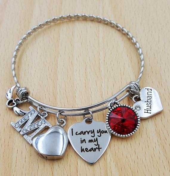 Urn Bracelet Urn Jewelry Sympathy Bracelet Sympathy Gift In Memory of Husband Memorial Bracelet Loss of Husband Urn Bracelet Husband