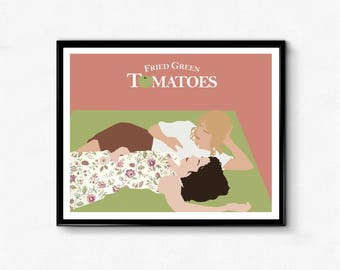 Fried Green Tomatoes Minimalist Movie Poster- Feminist Prints, Wall Art Decor