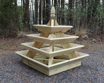 Woodworking Plans - Pyramid Planter - Illustrated with Photos!