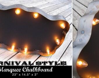 Carnival Style Steel Marquee Chalkboard Sign
