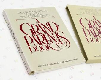 Vintage Grandparents Book for Grandchild, Grandparents Gift for Grandchild, Gift for Grandparent Keepsake Book, Memory Album Vintage Gift