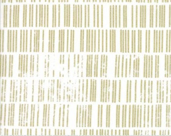 Metallic Gold Scales on White from Moda Fabric's Modern Luster Collection by Zen Chic