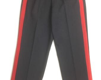 1950s Men's British Army Dress Trousers with Red Stripe - Military style