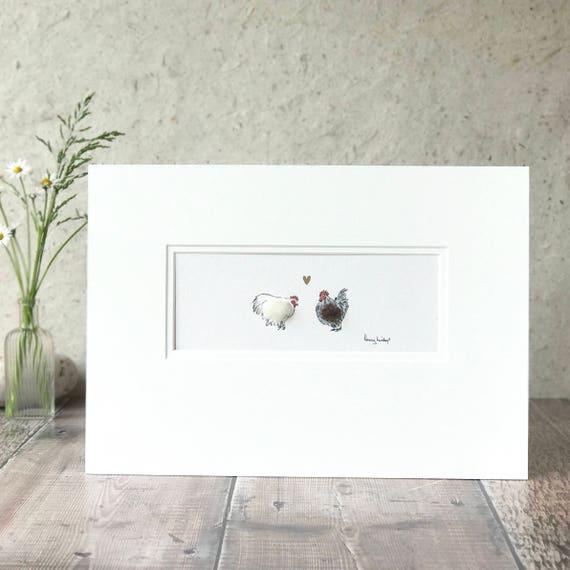 Huhn Huhn-Druck Wandkunst Küche Hochzeit Geschenk