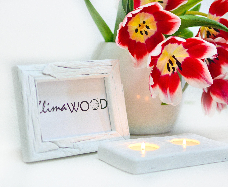 4X5 RUSTIC WOOD FRAME White Wedding Frame Mini Photo Frame
