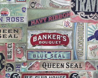 Tim holtz fabric etsy studio tim holtz eclectic elements cigarbox multi fabric gumiabroncs Choice Image