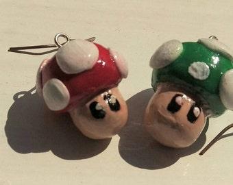 Handmade Mario Bros earrings