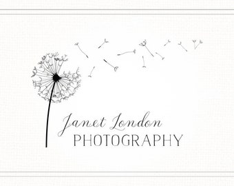 Dandelion Logo, Photography Logo Branding, Logo Watermark Logo, Handdrawn Script Logo, Premade Logo Design, Logo with Dandelion, L077