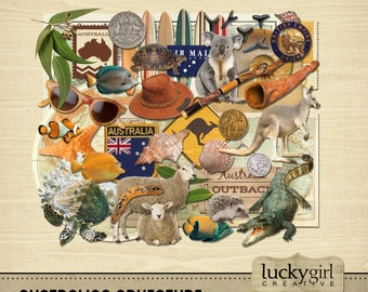 Australian Adventure Digital Scrapbook Kit