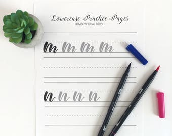 brush calligraphy practice, learn calligraphy, calligraphy practice sheets, brush lettering, instant download