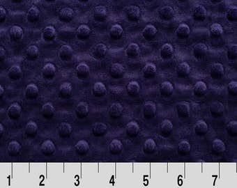 Minky Fabric By the Yard. Eggplant Dimple Dot Shannon Fabrics Minky Dot Fabric by the Yard at Wholesale Prices BTY Deep Purple