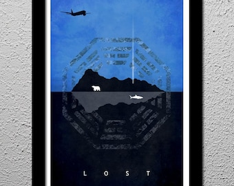 Lost - Island - Dharma Initiative - Original Art Poster