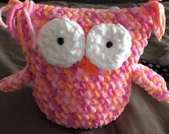 Owl Plush Stuffed Animal, handmade