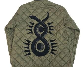 Vintage Military Jacket W/ Snake Applique