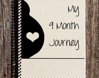 Pregnancy Journal - 9 Month Journey - Baby Shower Gifts - Pregnancy Gift