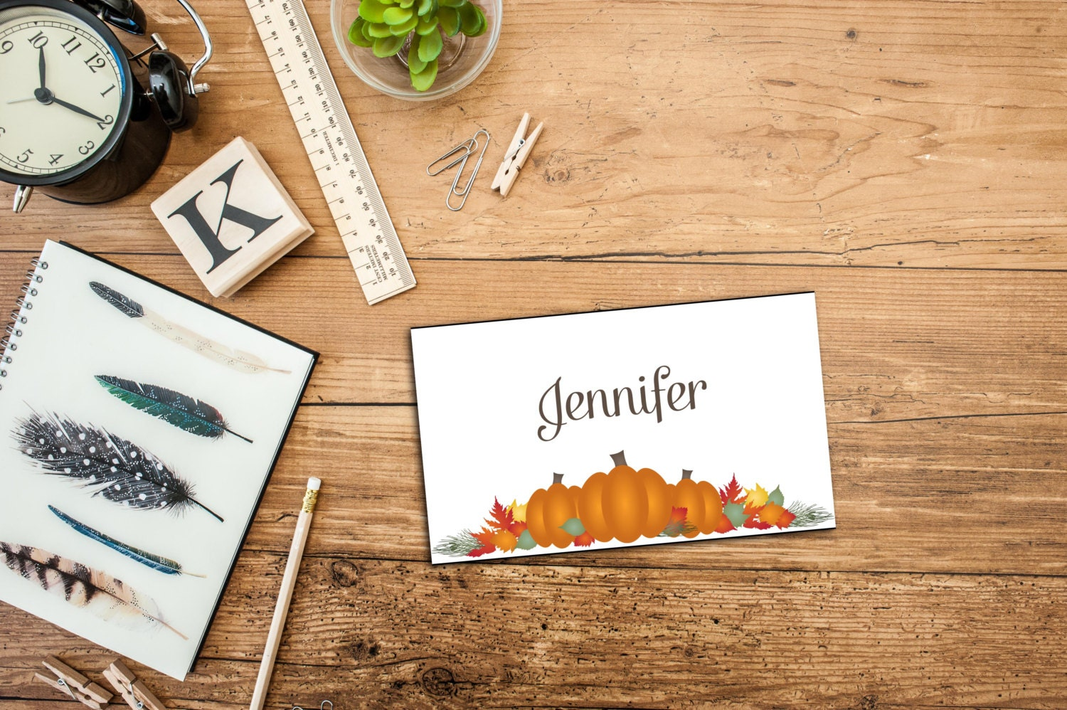 dinner place card template