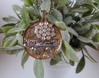 Vintage Upcycled Re-purposed Necklace Pendant
