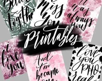 Printable, love print, valentines, wedding, best friend , physical copy or digital
