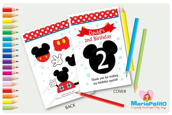 6 Mickey Mouse Coloring Books Personalized Coloring Books