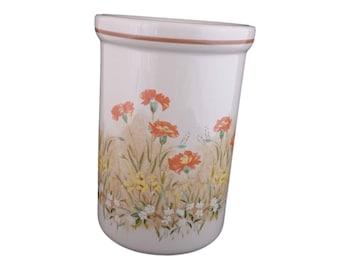 """St Michael Utensil Holder -  """"Field Flower"""" Design"""