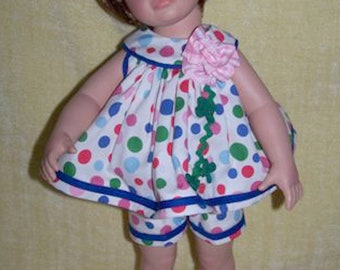 "Custom-made outfit for Effanbee's 18"" Katie ""Polka Dot"" Sundress"