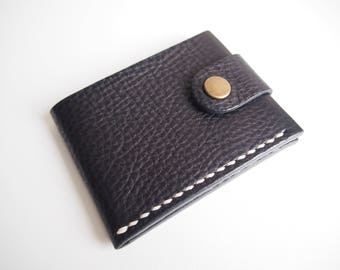 SALE 35% OFF --- Leather Card Holder, Leather Oyster Card Holder, Leather Travel Card holder - Black