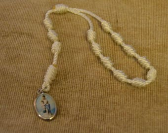 Our Lady of Victory Basilica White Loop Rope Chaplet