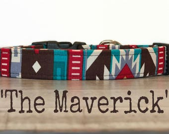 DOG COLLAR, Dog Collars, The Maverick, Dog Collars for Boys, Dog Collars for Girls, Tribal Dog Collar, Western, Aztec Dog Collars