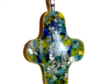 Blue Speckled Cross
